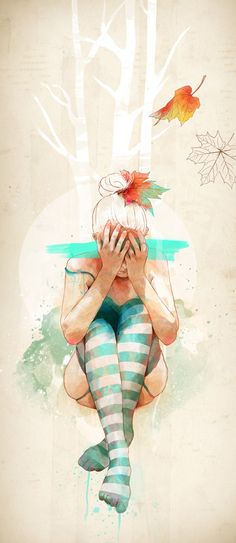 Autumn by Ariana Perez, via Behance
