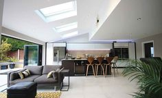 Complete Kitchen Renovations Tips You Will Love Kitchen Diner Lounge, Open Plan Kitchen Dining Living, Kitchen Diner Extension, Open Plan Kitchen Diner, Open Plan Living, Kitchen Reno, Living Room Ideas Uk, Living Room On A Budget, Living Room Designs
