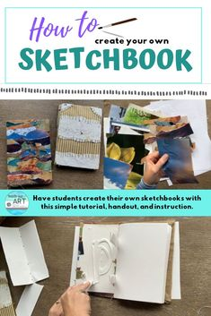 This is a great high school art lesson using the elements and principals of art to create a DIY sket High School Art, Middle School Art, Kandinsky Art, Contour Drawing, Art Lesson Plans, Art Classroom, Book Making, Art Lessons, Sketching