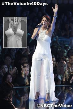 """It's time for the giveaway! Tweet us using #TheVoiceIn40Days for your chance to win Cassadee Pope's """"Over You"""" Dress."""