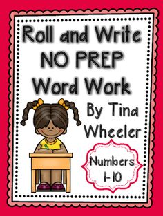 Help your students learn number words with this Common Core aligned Roll and Write NO PREP Word Work Numbers resource.  Students roll a die and write the word the die roll matches.  Each page includes spaces for 15 rolls.Use Roll and Write NO PREP Word Work for:literature centerssmall group instructionearly finishersindependent practicehomeworkmorning word workThis resource can be used to supplement your existing lessons for learning number words, as extra practice, or even as an…