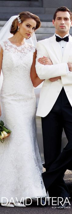 The David Tutera for Mon Cheri Wedding Gown Collection - Style No. 113207 Zelda  davidtuteraformoncheri.com #weddingdresses #weddinggowns