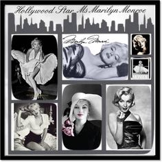"""""""Hollywood Star Ms Marilyn Monroe"""" by susan-holsclaw-atwell on Polyvore"""