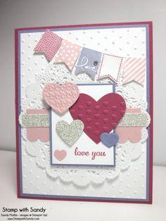 Banner Blast Valentine by stampwithsandy - Cards and Paper Crafts at Splitcoaststampers