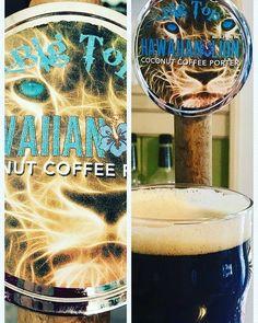 Big Top Hawaiian Lion coconut coffee porter. It's super-tasty! The Reserve Sarasota, Florida bar restaurant and coffee shop.