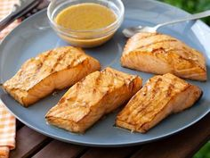 Barefoot Contessa's Asian-Grilled Salmon- very easy. Added a little honey and cooked in cast-iron skillet on stove top.