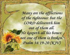 Psalm 34:19-20 KJV