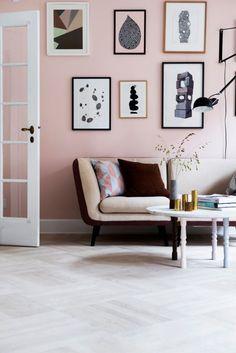 Dusty Pink Walls | @styleminimalism