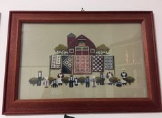 Told in a Garden cross stitch. The quilts are 3d