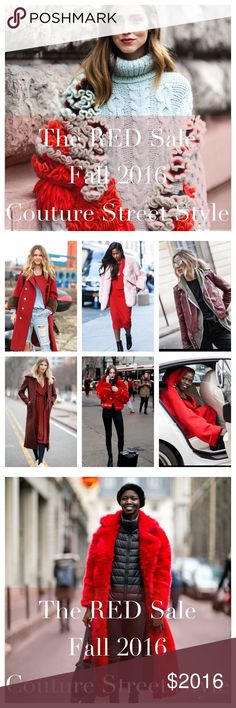 NEW LISTINGS DAILY! It's Everything RED this Fall 2016 for Couture Street Style! Coach Shoes