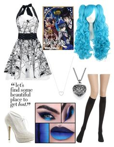 """""""black butler book of circus oc"""" by nightmare-reaper ❤ liked on Polyvore featuring Wolford, Poizen Industries, Fabulicious and Tiffany & Co."""