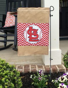 Hey, I found this really awesome Etsy listing at https://www.etsy.com/listing/189682687/st-louis-cardinals-burlap-garden-flag