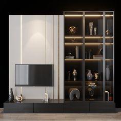 Modern Tv Cabinet, Tv Cabinet Design, Tv Wall Design, Tv Set Design, Living Tv, Ikea Living Room, Modern Living, Minimalist Living, Living Rooms