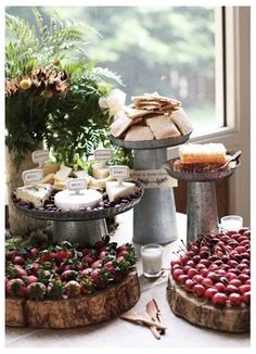 Rustic Cheese Table