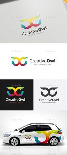 Creative Owl Logo Template #design Download…