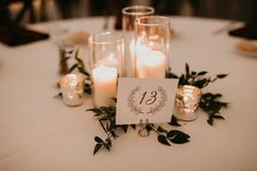 Winter Wedding at The Hutton House. Minnesota Wedding. Burgundy Wedding. Candle Centerpice