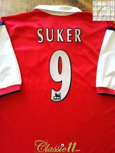 1ffa00c5d65 1999 00 Arsenal Home Premier League Football Shirt Suker  9 (XXL)