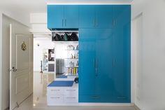 HomeLane: Full Home Interior Design Solutions, Get Instant Quotes. Beautiful Houses Interior, Beautiful Interiors, Wardrobe Storage, Locker Storage, Modular Wardrobes, Free Interior Design, Wardrobe Design, Living Room Designs, Home Goods