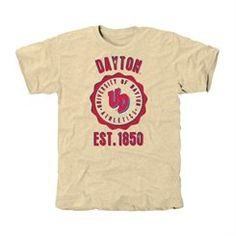 Dayton Flyers Old-School Seal Tri-Blend T-Shirt - White for college day