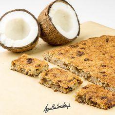 zdrowy baton kokosowy zdrowa przekąska dla aktywnych