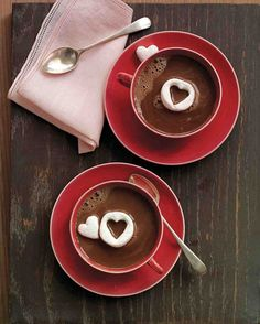 Hot Chocolate with Heart Marshmallows