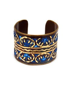 Blue Painted Cuff...in love!!