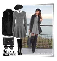 """""""Shein"""" by dina-37 ❤ liked on Polyvore featuring Post-It, Nly Shoes, DKNY, Vivienne Westwood, Topshop and Yves Saint Laurent"""