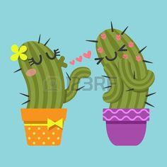 cactus enamorado caricatura - Buscar con Google