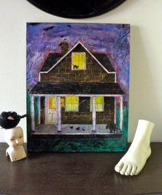 Original Acrylic Painting BATS Rats CATS No Doormat by JackpotJen