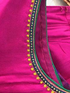 Hand Work Blouse Design, Kids Blouse Designs, Simple Blouse Designs, Stylish Blouse Design, Hand Designs, Simple Designs, Saree Tassels Designs, Pattu Saree Blouse Designs, Blouse Designs Silk