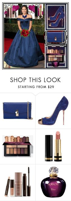 """""""set 9"""" by fahirade ❤ liked on Polyvore featuring Zac Posen, Dolce&Gabbana, Christian Louboutin, Gucci, Laura Mercier, Christian Dior and Ten Thousand Things"""