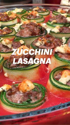 Zucchini Dinner Recipes, Zucchini Lasagna, Veggie Recipes, Appetizer Recipes, Keto Recipes, Cooking Recipes, Healthy Recipes, Easy Pasta Recipes, Easy Meals