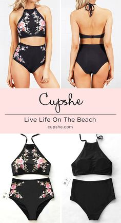 Inspire confidence and beauty! Only $21.99 Now! Short Shipping Time! Easy Return + Refund! Attract more attention with its halter design and comfy high-waist fit. It is the must-have item for beach packing. Take it now!