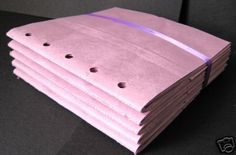 5 PINK sewn paper bag scrapbook albums 6x6 inches by shmizz (Craft Supplies & Tools, Scrapbooking Supplies, Albums, sewn, altered art)