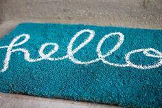 Turn those old Doormats into new ones!!! DIY Doormat and DIY Welcome mat