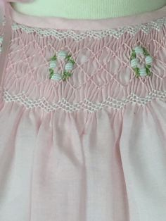 Vestido Smocked rosa luz vestidos de bebé y niña verano