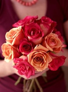 Roses from Organic Bouquet - Veriflora certified & Fair Trade