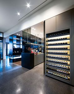 great wine storage in a Modern setting via Contemporist