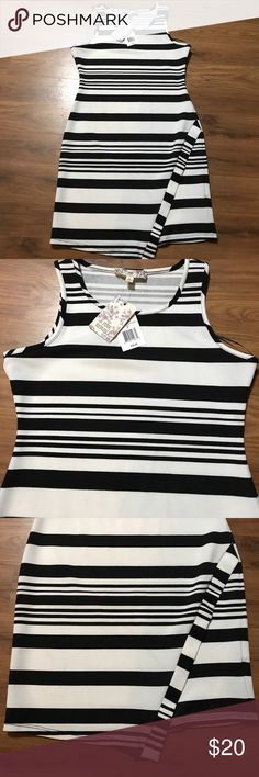 NWT PINK REPUBLIC BLACK & WHITE DRESS 👗🛍 Sz S New with tags! Pink Republic dress 👗 in black and white. Size Small.  $36 Value. Comes from a smoke free and pet free home 🏡 Pink Republic Dresses Midi