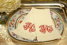 monogrammed guest towels in a bath is a beautiful way to welcome guests! Addison