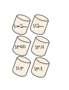 s-blend words for sticks s'mores unit