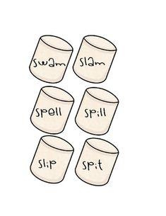 s-blend words for sticks s'mores unit