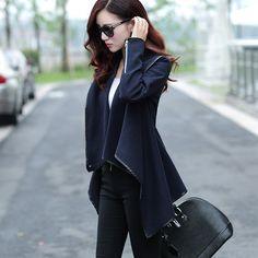 Fashion Solid Color Cloak Woolen Coat