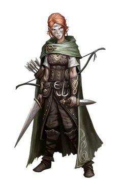Female Human Rogue - Pathfinder PFRPG DND D&D d20 fantasy