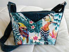 Sac Mambo tropical bleu canard de Danielle - Patron sac zippé Sacôtin