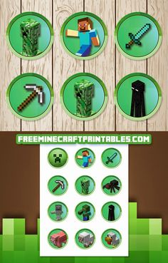 Free Minecraft Printables: Free Printable Minecraft Cupcake Toppers | Minecraft…