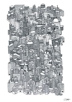 Big City Boy graphic print of detailed hand by Thisplacerighthere