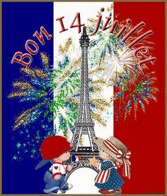 Happy Bastille Day, Public Holidays, Gif Animé, Love Wallpaper, Gifs, Tour Eiffel, Christmas Ornaments, Holiday Decor, Saint Camille