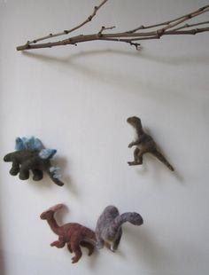 Prehistoric Dinosaur needle felted baby mobile - Etsy