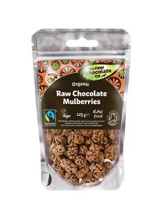 Who wants a snack that tasty and you can pretend it's healthy.  Chocolate and mulberries a bit of both!!! The Raw Chocolate Company Organic Chocolate Mulberries